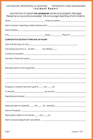 Free Accident Report Form Template 24 Workplace Accident Report Form Template Progress Report 3
