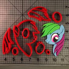 my little pony rainbow dash cookie cutter set