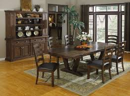 Beautiful Dark Rustic Kitchen Tables Gallery Albendazoleus - Solid wood dining room tables and chairs