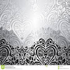 Black And White Vintage Design Classic Black White Vintage Invitation Background Stock