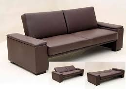 Black faux leather sofa Modern Contemporary Homegenies Brown Or Black Faux Leather Sofa Bed Homegenies