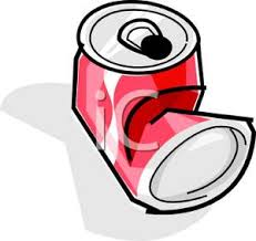 crushed can clipart. a crushed soda can - royalty free clipart picture