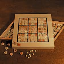 Wooden Sudoku Game Board WOODEN SUDOKU GAME BOARD WITH SLIDING DRAWERS 3