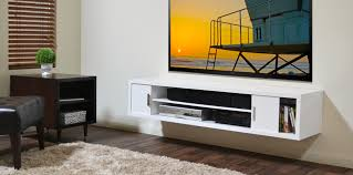 White Wall Mounted Media Shelf And Console Cabinet For Tv Of intended for  dimensions 1920 X