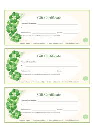 A Free Customizable Gift Certificate Template Is Provided To
