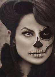 skull and face stitch easy makeup ideas stitches