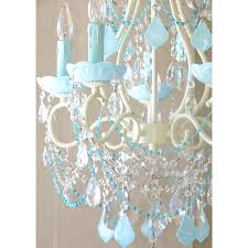 white beaded chandelier 5 light beaded chandelier with opal aqua blue crystals thumbnail 1 white beaded
