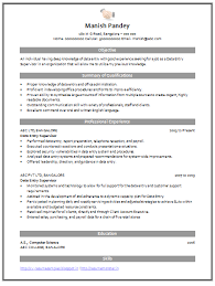 Data Entry Resume Delectable Resume Format For Data Entry Piqqus