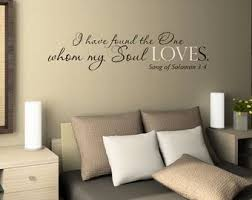 i have found the one whom my soul loves master bedroom wall decal vinyl wall quote decals wedding gift decal vinyl lettering on wall decals quotes for master bedroom with bedroom wall decal etsy