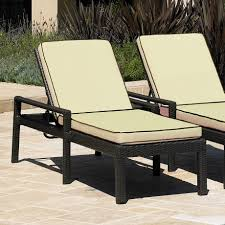 outdoor environment black modern lounge chair with wicker material and cream mattress and cushion plus adjustable headrest as charming charming outdoor furniture design
