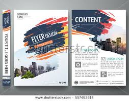 brochure design template vector flyers report business magazine poster abstract blue brush pattern on