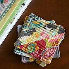 Best 25+ Small quilt projects ideas on Pinterest | Machine binding ... & String Block Quilted Coasters/Mug Rugs --mall quilt projects are a great way Adamdwight.com