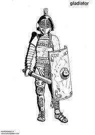 Kleurplaat Gladiator Romeinen Gladiatoren Romeinen En Kleurplaten