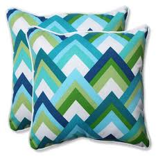 blue and green throw pillows. Resort Peacock 18.5-inch Outdoor Throw Pillow, Set Of 2 Blue And Green Pillows T
