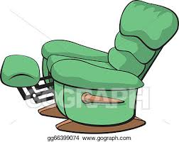 recliner chairs clip art. Delighful Recliner Vector Clipart  Illustration Of An Open Recliner Chair  Illustration Gg66399074 Intended Recliner Chairs Clip Art L