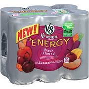 v8 v fusion energy black cherry 6 pk cans