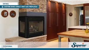 superior drt40cr l direct vent corner gas fireplace