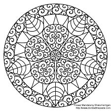 Small Picture Mandala Coloring Pages Flowers Coloring Pages