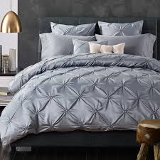 silk luxury bedding. Fine Luxury 6 Pieces Cotton Imitated Silk Luxury Bedding Set Solid Color Pinch Pleat  Bed King Queen Linens Duvet Cover Sheetin Sheet From Home U0026 Garden On  With