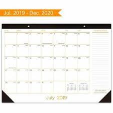 Details About Desk Calendar 2019 2020 Large Monthly Desk Pad Calendar Planner Academic Desk