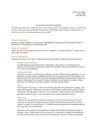 grant proposal template templates in pdf word excel example of grant proposal template
