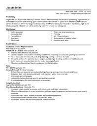 Customer Service Representative Accounting Finance Resume Example