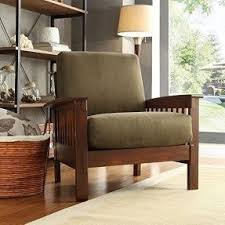living room stools. tribecca home hills modern mission-style oak upholstered microfiber accent chair armchair for comfortable living room stools