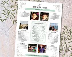 family newsletter family newsletter etsy