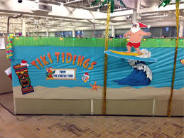 office christmas decor. Surfing Santa Hawaiian Office Christmas Decorations Decor 1
