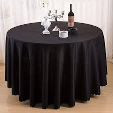dsan solid color polyester round tablecloth for wedding hotel party table cloth