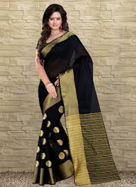 buy wama fashiontussar cotten silk sari tz vishva dots online close