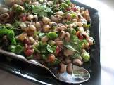 black eyed pea salad with herbs  walnuts and pomegranates