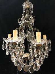 french 6 light cage antique chandelier 1 of 9