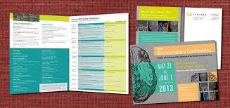 Booklet Program Template Conference On Pinterest Schedule Design Brochure Template
