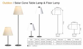outdoor solar cone floor lamp table lamp 303247 f 303247 t
