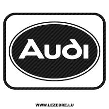 Sticker Karbon Audi Logo 3