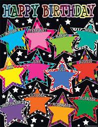 Star Chart By Birthday Fancy Stars Happy Birthday Chart Birthday Charts