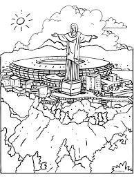 Kleurplaat Wk 2014 Stadion Rio Kleurplatennl
