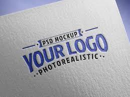 Free basic mailing stationery mockup. Free Logo Textured Paper Mockup Get Mockups