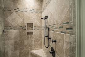 travertine tiled shower remodel image above to enlarge