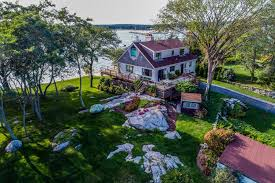 exclusive noank ct waterfront property with two sandy private beaches