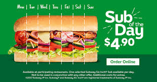 Subway Menu Calories Chart Menu Subway Com New Zealand English