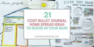 Home Maintenance Tracker 21 Cozy Bullet Journal House Cleaning And Maintenance Spreads