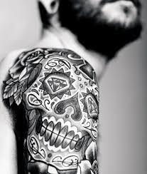 100 Sugar Lebka Tetování Vzory Pro Muže Cool Calavera Inkoustové