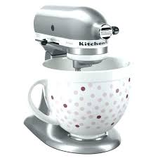 target kitchen aid mixer pink mixer mixing bowl limited edition pink polka dot ceramic for stand