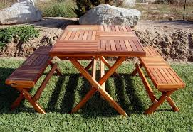 custom rectangular folding picnic table benches made in u s a