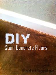 Concrete Floors In Kitchen Diy Stain Concrete Kemiko Cheap Flooring Home Renovation Dark