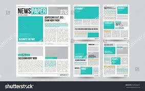 Newspaper Article Design Newspaper Design Template Vector Images Articles Stock
