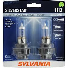 Sylvania Headlight Bulb Comparison Chart Sylvania H13 Silverstar Halogen Headlight Bulb Pack Of 2