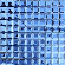 blue glass mosaic tile backsplash pyramid 3d shower wall tiles design seamless crystal glass tiles